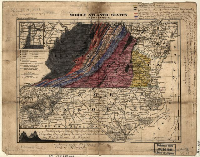 Geological map of Virginia & West Virginia showing their chief geological sub-divisions /