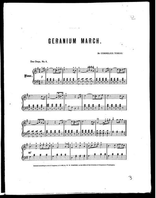 Geranium March