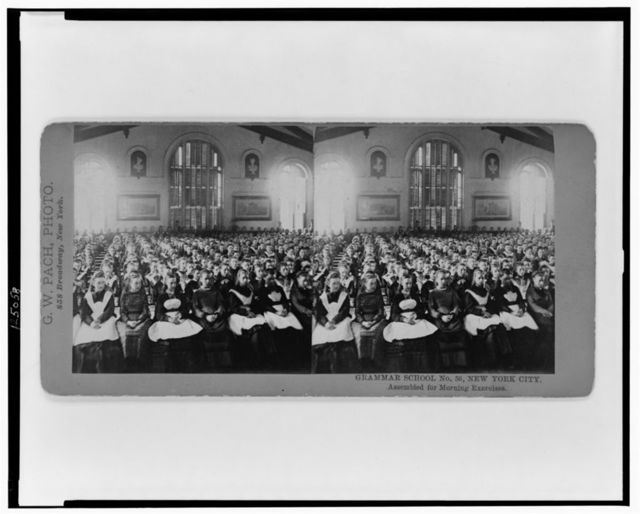 Grammar School, No. 56, New York City--Assembled for morning exercises