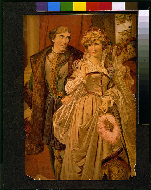"""Henry Irving and Ellen Terry as Benedick and Beatrice in """"Much ado about nothing"""""""