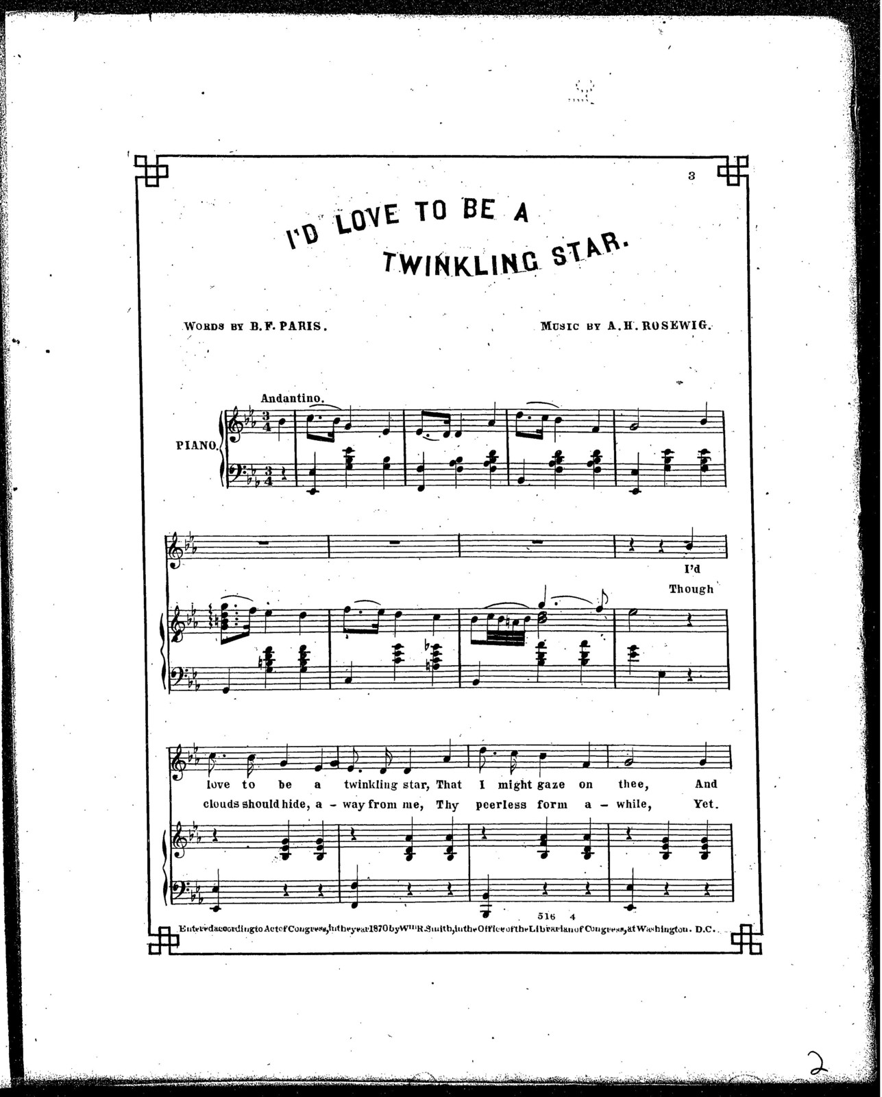 I'd love to be a twinkling star