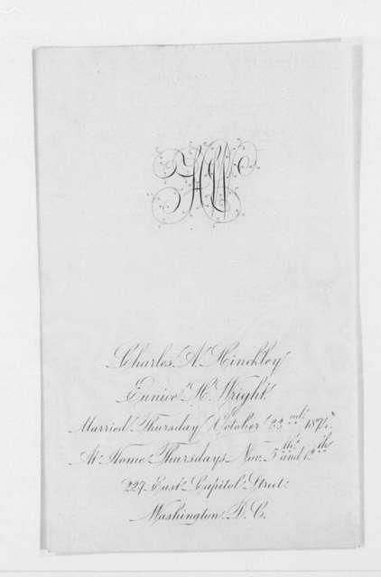 Invitation File, 1870-1874