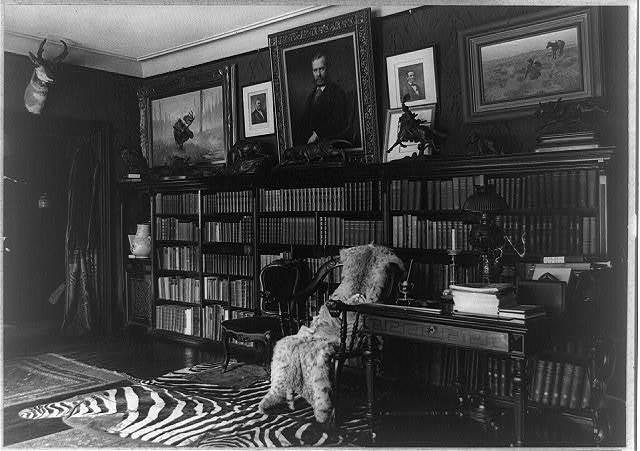 [Library at Sagamore Hill]