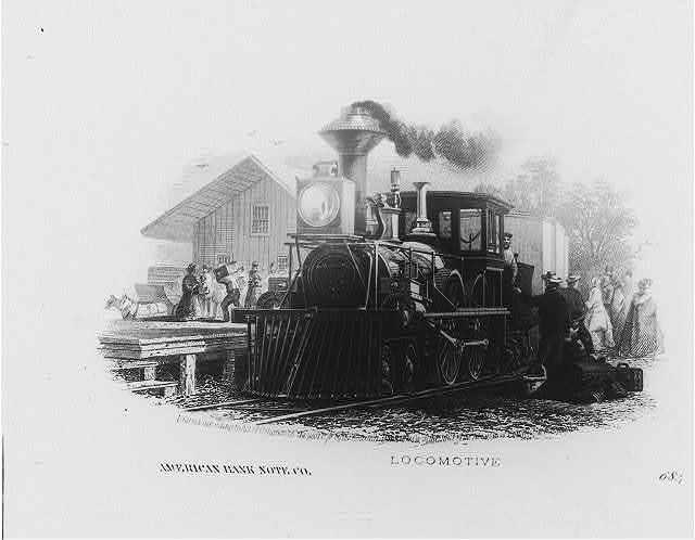 Locomotive [at station]