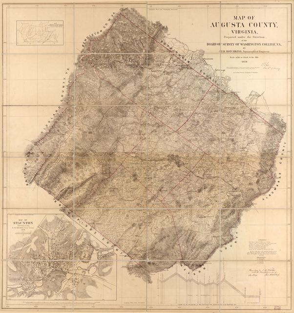 Map of Augusta County, Virginia /