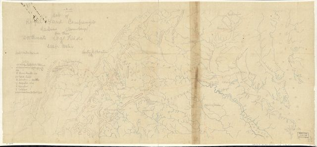 Map of Royal Land Company's railroad (narrow gauge) from their anthracite coal fields to deep water /