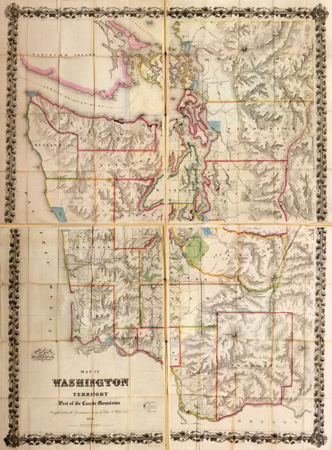 Map of the Washington Territory : west of the Cascade Mountains /