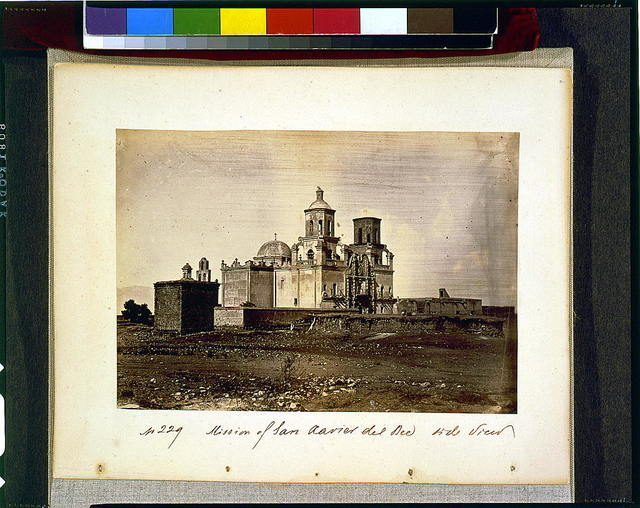 Mission of San Xavier del Bec [i.e., Bac], side view