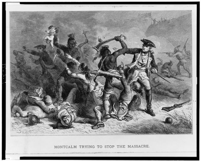 Montcalm trying to stop the massacre / A. Bobbett ; Darley.