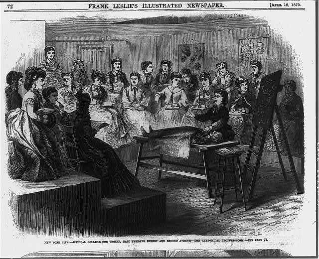 New York City - Medical College for Women, East Twelfth Street and Second Avenue - the anatomical lecture room
