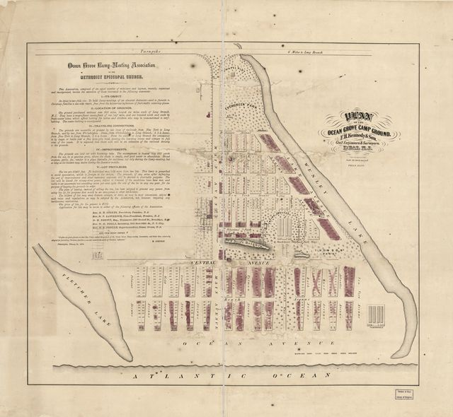 Plan of the Ocean Grove Camp Ground /
