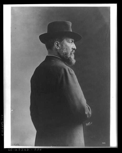 [President James A. Garfield, half-length portrait, standing, right profile] / Sarony, N.Y.
