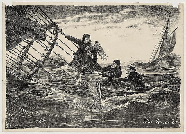 [Rescue of Jules Duruof and his wife off the Skagerrak] / Lith. Lavau Bx.