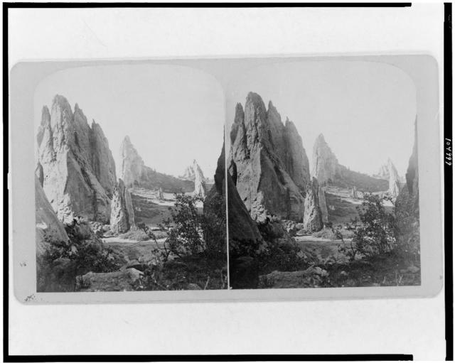 Scenes on the line of the Denver and Rio Grande Railway. Garden of the gods