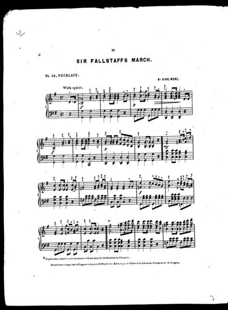Sir Falstaff's march