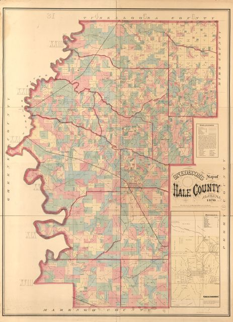 Snedecor's map of Hale County, Alabama.