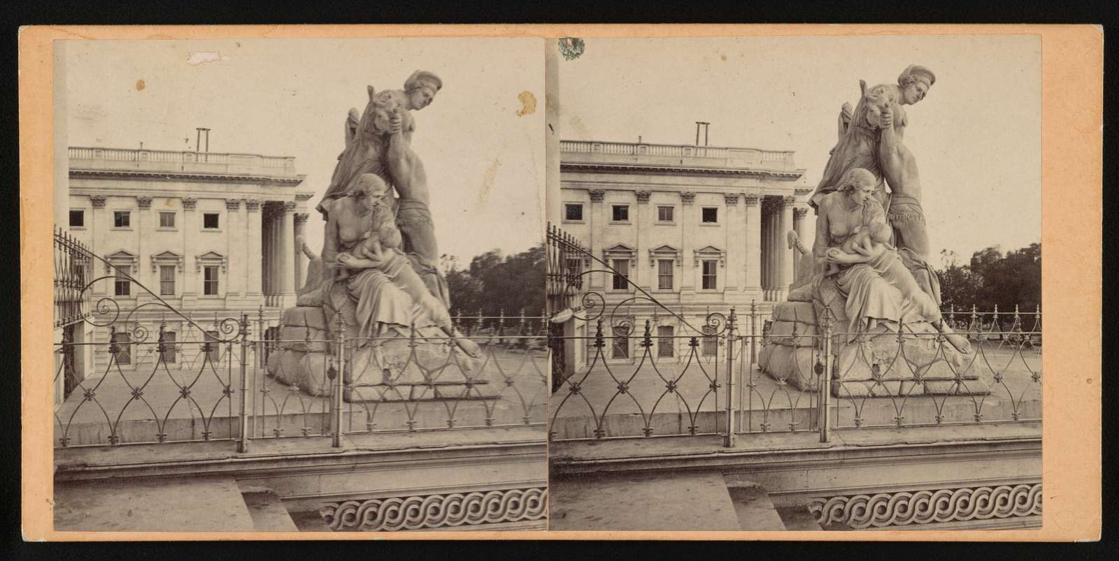 Statuary in front of Capitol, Washington