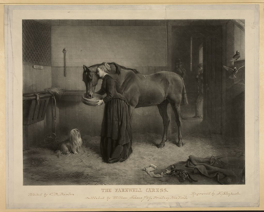 The farewell caress / painted by C.B. Barber ; engraved by F. Stacpoole.
