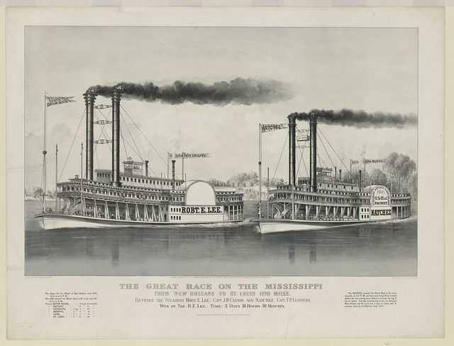 The great race on the Mississippi: from New Orleans to St. Louis 1210 miles