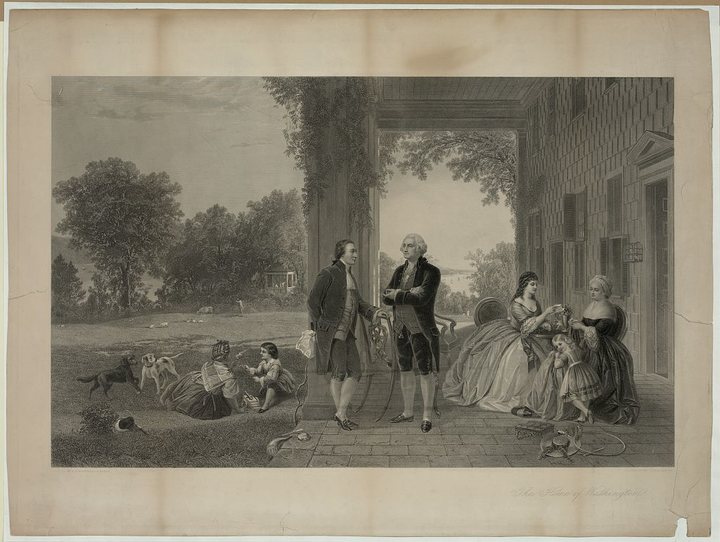 The home of Washington / painted by T.P. Rossiter & L.R. Mignot ; engraved by Thos. Oldham Barlow.