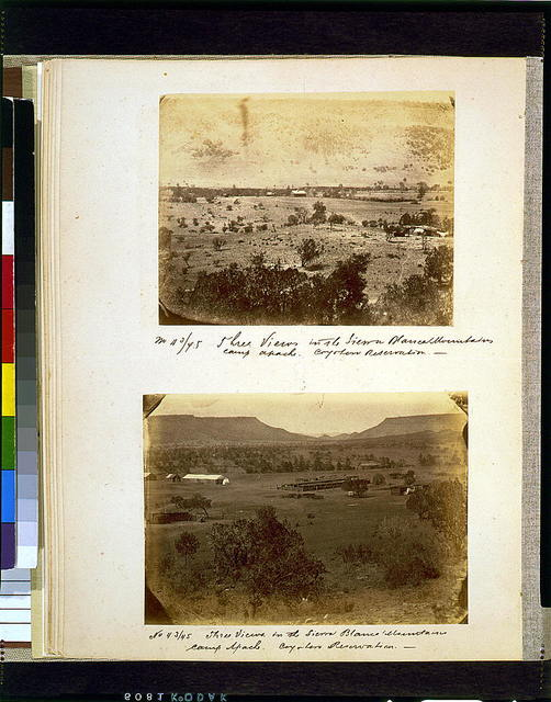 Three views in the Sierra Blanca Mountains, Camp Apache--Coyotero Reservation