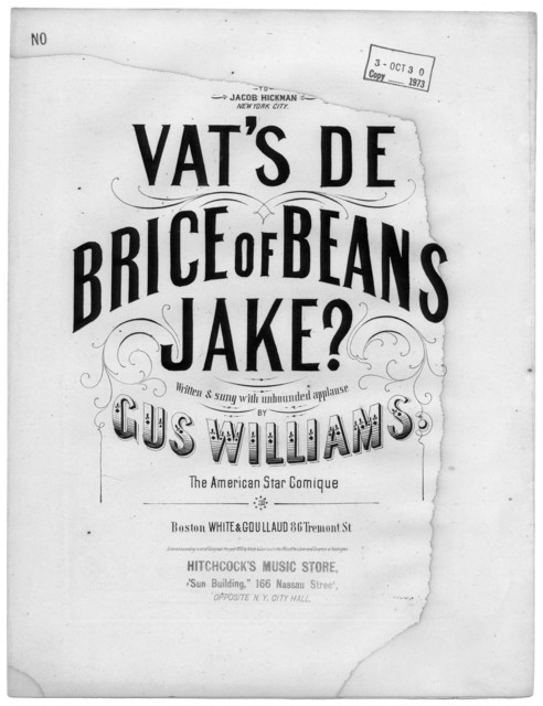 Vat's de brice of beans, Jake?