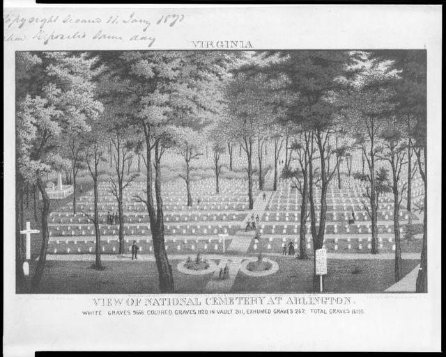 View of National Cemetery at Arlington