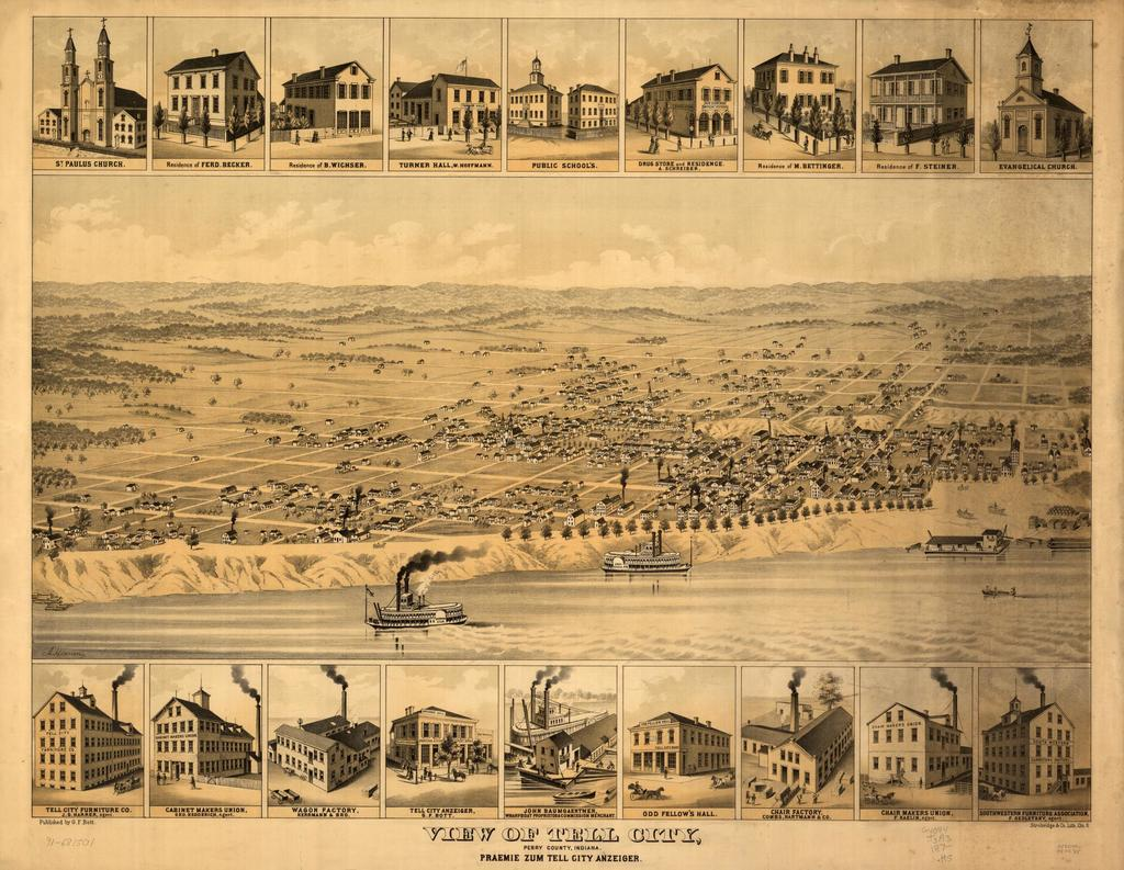 View of Tell City, Perry County, Indiana : Praemie zum Tell City Anzeiger /