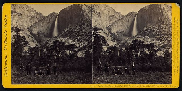 Yo-Semite Fall, (first fall 1600 ft. second 434 ft. third 600 ft.) from Hutchings'