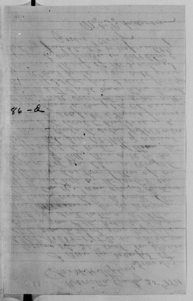 Alexander Hamilton Stephens Papers: General Correspondence, 1784-1886; 1871, Jan. 9-Feb. 14