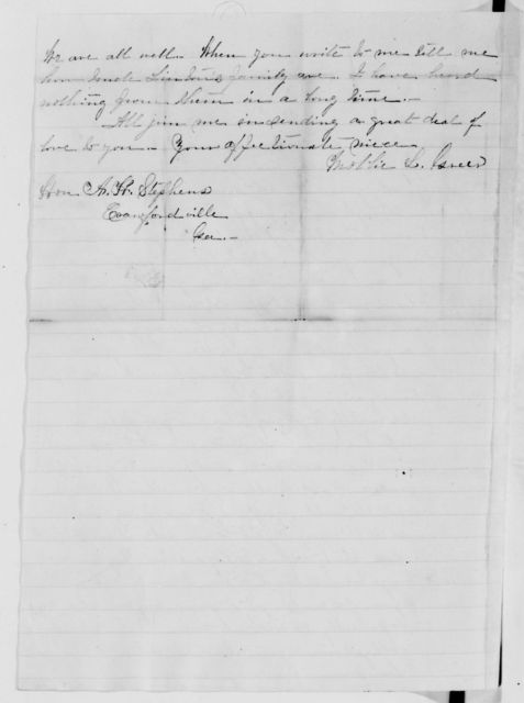 Alexander Hamilton Stephens Papers: General Correspondence, 1784-1886; 1871, Mar. 22-May 24