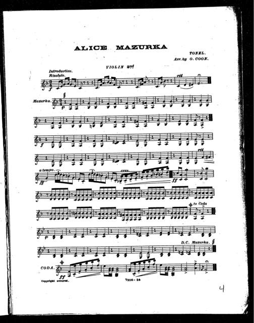 Alice mazurka