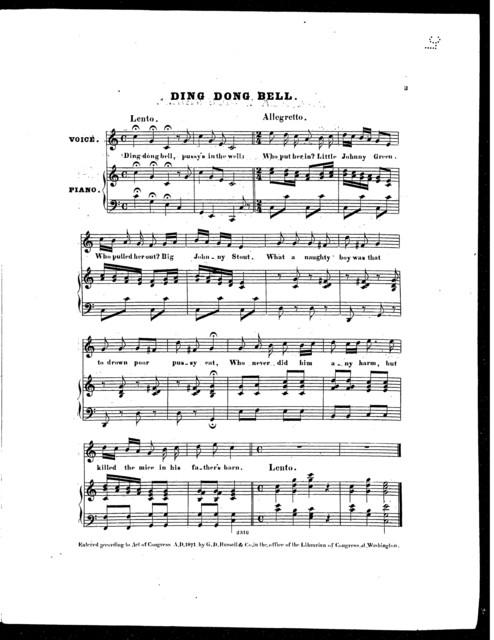 Baa, baa, black sheep [and] Ding dong bell