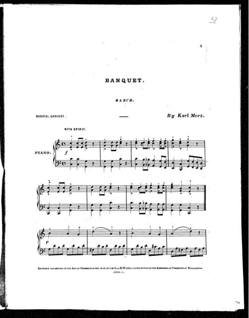 Banquet march (Musical harvest)