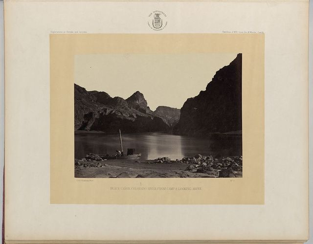 Black Cañon, Colorado River, from Camp 8, looking above / T.H. O'Sullivan, Phot.