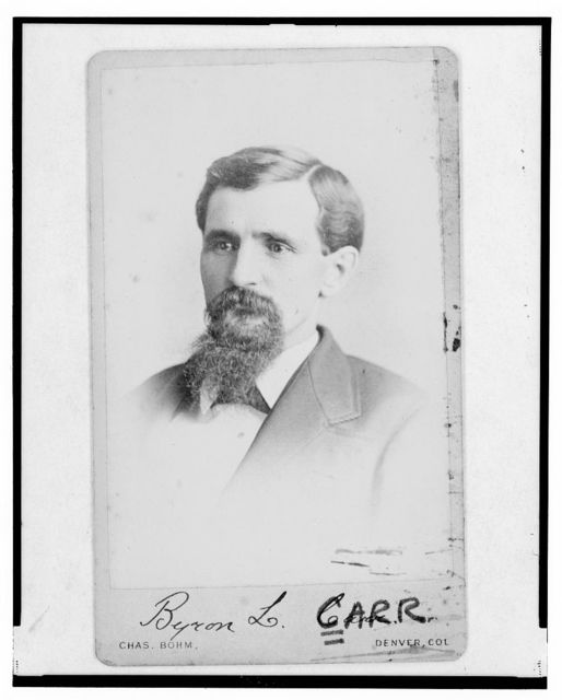 [Byron L. Carr, Colorado attorney general, head-and-shoulders portrait, facing left] / Chas. Bohm, Denver, Col.