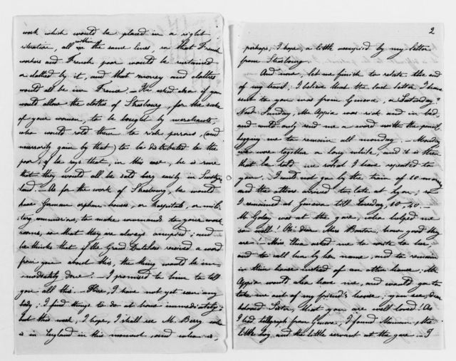 Clara Barton Papers: General Correspondence, 1838-1912; Margot, Antoinette, and family, 1871-1889