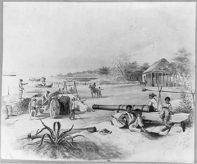 [Dominican Republic, 1871]: View of Ocoa Bay, the Azua port, or embarkadero