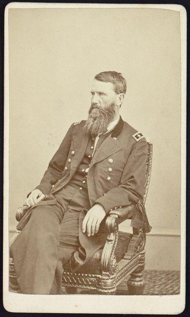 [Francis P. Blair, Jr., three-quarter length portrait, seated, facing left, wearing military uniform]