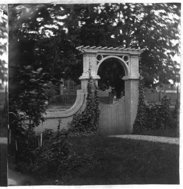 Gate of Gen. [Montgomery Cunningham] Meigs house, 1239 Vermont Ave., N.W., Washington, D.C.