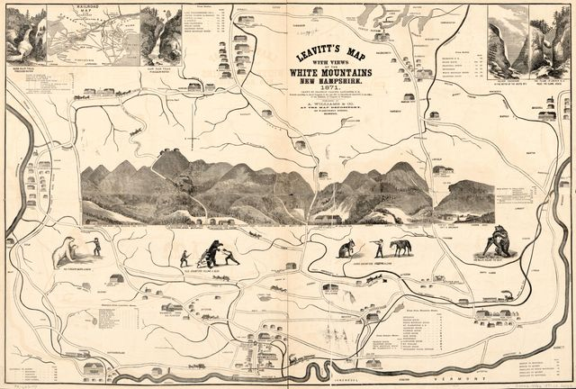 Leavitt's map with views of the White Mountains, New Hampshire : 1871 /