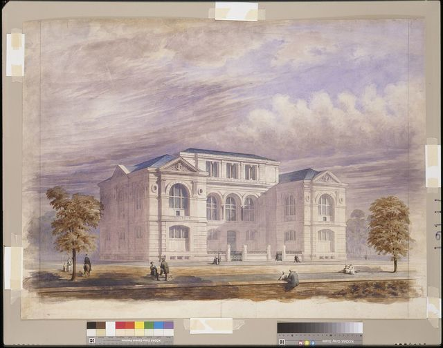[Lenox Library, New York City. Perspective rendering]