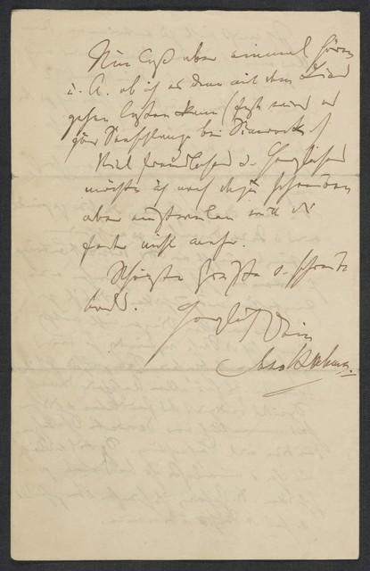 [Letter, 1871] Okt., [to Levi]
