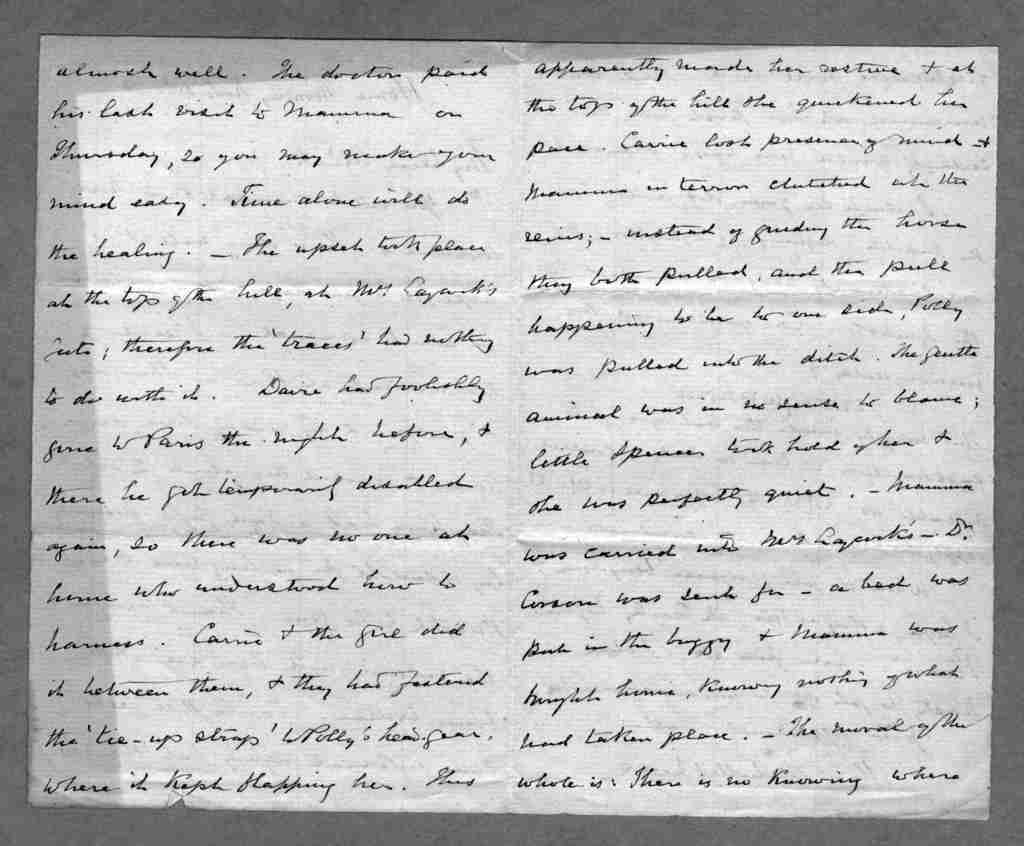 Letter from Alexander Melville Bell to Alexander Graham Bell, November 6, 1871