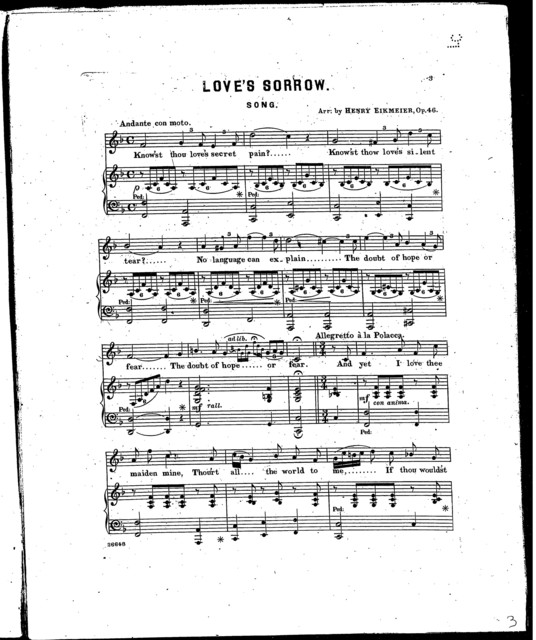 Love's sorrow