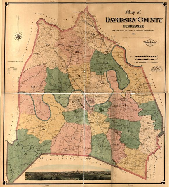 Map of Davidson County Tennessee, from actual surveys made by order of the county court of Davidson County, 1871 /