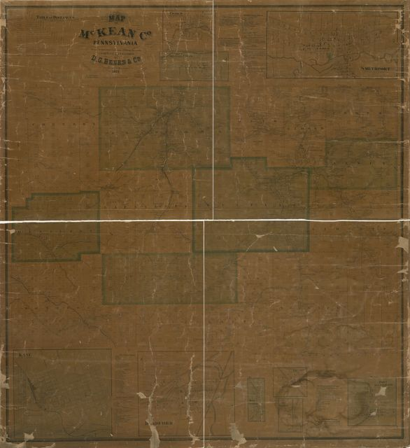 Map of McKean Co., Pennsylvania : from actual surveys and official records /