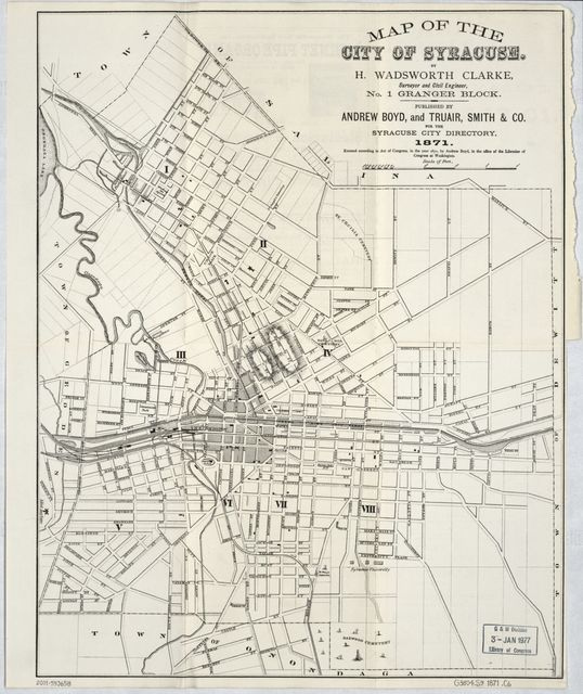 Map of the city of Syracuse /