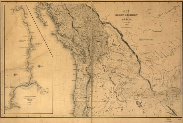 Map of the Oregon Territory.