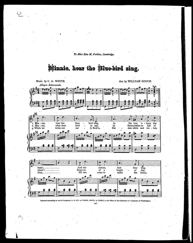 Minnie, hear the bluebird sing
